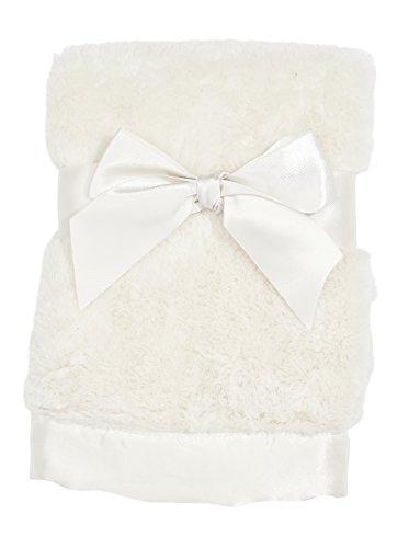 Bearington Baby Small Creamy White Silky Soft Security Blankie, 16