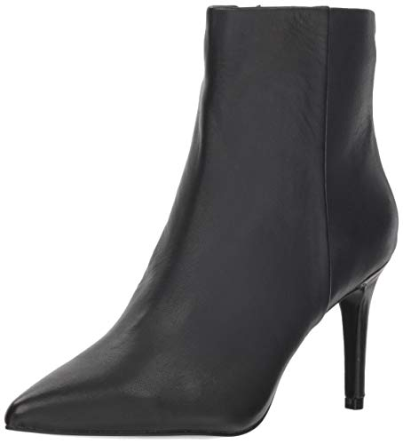 STEVEN by Steve Madden Women's Leila Ankle Boot, Black Leather, 9.5 M US