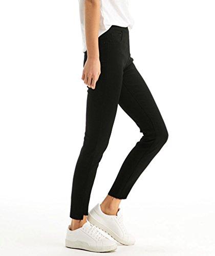 Confortevole Casual Alla Denim Vita Nero Leggings Elasticizzati Donna Matita Skinny Jeans Caviglia Alta Pantaloni A Zhiyuanan 7qaY8vBv