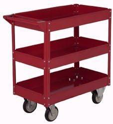 U.S. General 16 x 30 Three Shelf Steel Service Cart