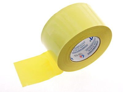 ED EDGE Yellow Construction Sealing PVC Vinyl Duct Tape 60yd 9mil Asbestos Abatement Waste Bag tie off Hanging Visquine Plastic Sheeting Sheet Seaming Moisture Barrier Seal (Yellow Vinyl Edge)