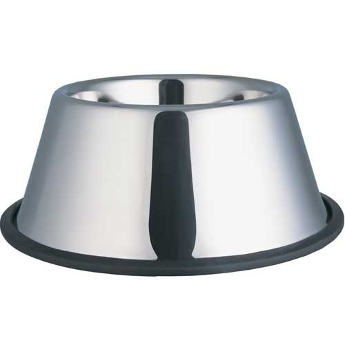 (Indipets Stainless Steel No Tip Dish 32oz For Long Eared Dogs)