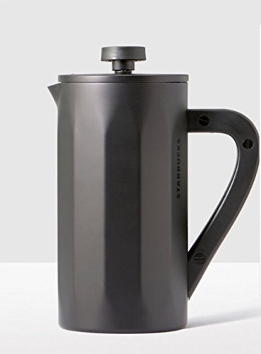 Starbucks Stainless Dagger Coffee Press with Soft Touch Handle - Matte Black, 8-cup …