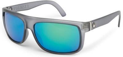 Dragon Alliance 720-1825 Wormser Matte Grey / Green Ion Lens - Wormser Dragon Sunglasses