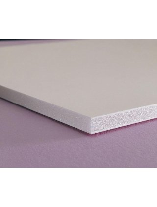 CFC-Free Polystyrene Foam Board, 40 x 30, White Surface and Core