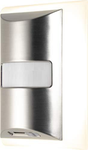 - GE CoverLite LED Plug-in Night Light, Motion Sensor, Dimmable, Energy Efficient, Modern Design, Ideal for Livingroom, Hallway, Bedroom, Nursery, Bathroom, Kitchen, Basement, Brushed Nickel, 41329,