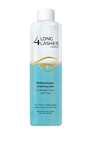 Long 4 Lashes by Oceanic, Two-Phase Conditioning Eye Make-Up Remover with Biotin, 8.45 Oz (Pack of (Lash Wash Makeup Remover)