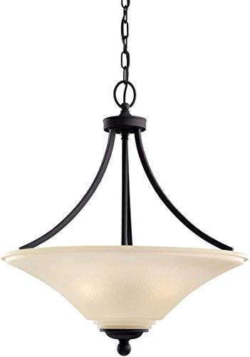 Sea Gull Lighting 65376EN3-839 Somerton Pendant, 3-Light LED 28.5 Total Watts, Blacksmith