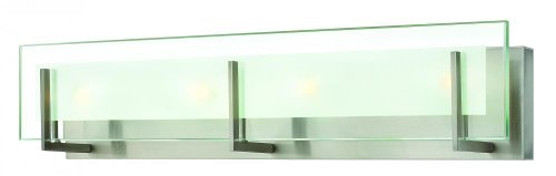 Hinkley 5654BN Contemporary Modern Four Light Bath from Latitude collection in Pwt, Nckl, B/S, Slvr.finish,