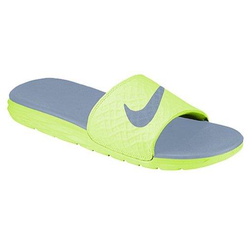 sale retailer fb4a6 e8019 Galleon - NIKE Men s Benassi Solarsoft Slide Athletic Sandal, Volt Black Dove  Grey, 7 D(M) US