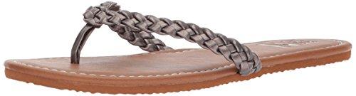 Billabong Women's Braidy Flip Flop, Brown, Parent Pewter