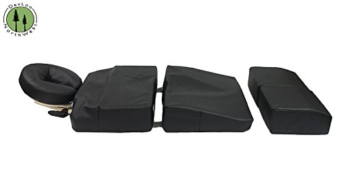 Pregnancy-Pillow-Maternity-Cushion-Bolster-Set-Black-w-Carrying-Case-DevLon-NorthWest