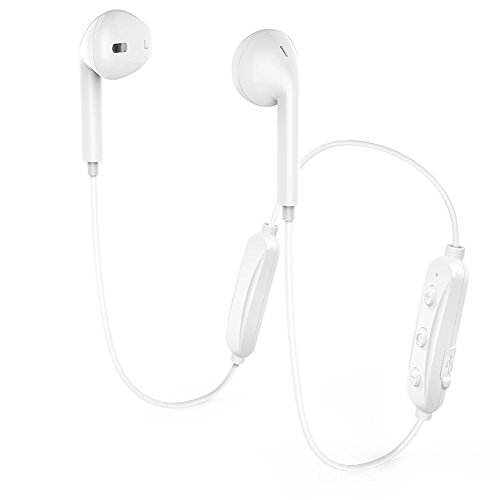 Wireless Bluetooth Headphones, Bluetooth 4.1 Earbuds LD (white)
