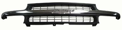 Grill Black Auto Car (1999-2002 Chevy Silverado Truck 1500 Front Grille Car Grill Black Chrome)