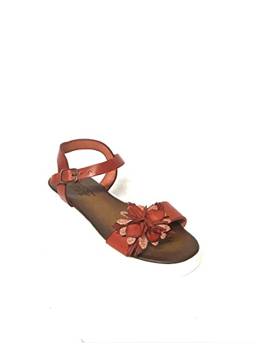 Follie Rosso Vera Made In Platform Divine Mainapps Italy Fiore Pelle Sandali fBdTwOx