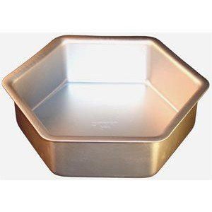 Fat Daddios Anodized Aluminum Hexagon Cake Pan, 12 Inch x 3 Inch