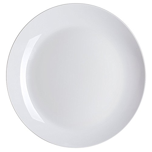 "Lifver 4-Piece Porcelain 10-1/2"" Dinner Plate Set,White"