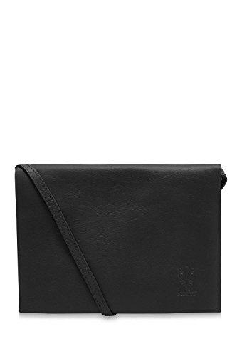 Ladies Envelope Bag Soft Di Black Montte Flap 100 Shoulder Leather Jinne Italian t0TvwY