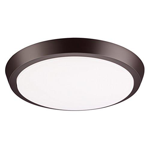 GetInLight 11 Inch Flush Mount LED Ceiling Light with ETL Listed, Soft White 3000K, Bronze Finish, IN-0302-4-BZ