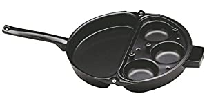NORPRO 665 Deluxe Nonstick Omelet Pan With Egg Poacher With Lid