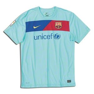 a0708eae5e6 Image Unavailable. Image not available for. Color  Nike Barcelona Away Jersey  10 11