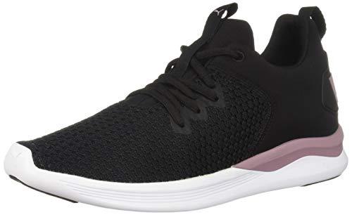 PUMA Women's Ballast MID Sneaker Black-Elderberry, 5.5 M US