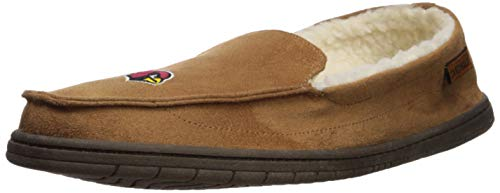 Cardinal Slippers - FOCO NFL Arizona Cardinals Beige Team Logo Moccasin Slippers Shoe, Beige, Large (11-12)