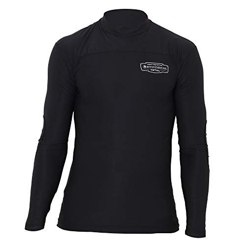 RYNOSKIN: Mosquito & Tick Protection. Tactical & Hunting Clothes Great Against Biting Insects, Camping & Hunting Accessories, Chemical Free Under Armor Clothing, Base Layer - Shirt, Black, Large (Clothing Knife)