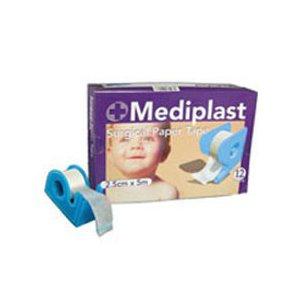Mediplast protectores antisalpicaduras quirúrgico y 2,5 cm x 5 de punta redonda rollo de