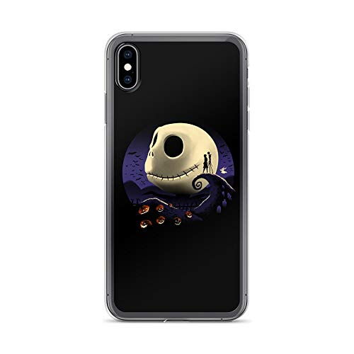 iPhone Xs Max Case Anti-Scratch Motion Picture Transparent Cases Cover Pumpkins and Nightmares Classic Movies Video Film Crystal Clear]()