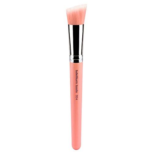 Bdellium Tools Professional Eco-Friendly Makeup Brush Pink Bambu Series - Duet Fiber Slanted Kabuki 954 - 954 Series
