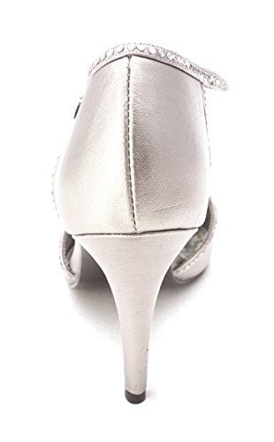 Spitzenschuhe Leder Pumps D Frauen Metallic Caparros Strap T Orsay Wisdom Pewter qTnEU