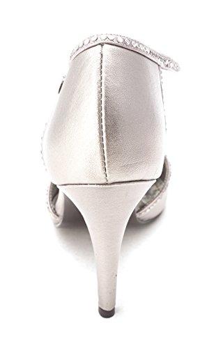Pewter Frauen T Wisdom Orsay Spitzenschuhe Caparros Pumps D Strap Leder Metallic 4zqwOSd