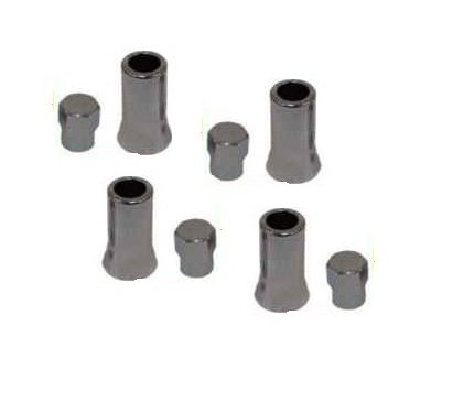 (CHROME VALVE STEM SLEEVES AND CAPS FOR TIRE PRESSURE SENSORS GM VEHICLES)