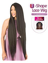 (New Born Free Human Hair Blend Lace Front Wig 4X4 XL Magic Lace U-Shape Lace Wig MLUH100)