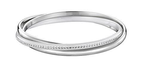 Ceranity - 903-065.B - Bracelet Jonc Femme - Acier inoxydable - Céramique - Cristal - Blanc - 65 cm