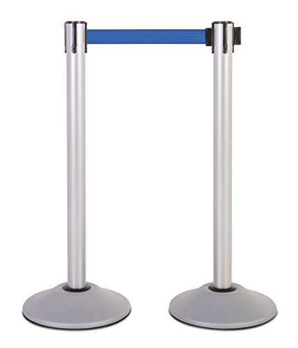 US Weight Heavy Duty Premium Steel Stanchion with 7.5-Foot Retractable Belt (More Colors ()
