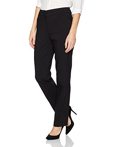 Pants Slacks Dress - Briggs New York Women's Split Waist Pant, Black, 14