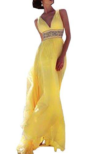 ivyd ressing Mujer brillantes Cinturón a de línea Prom vestido pelota para vestido de noche dorado