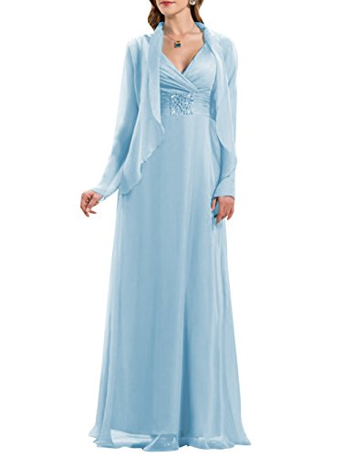 Buy light blue and silver bridesmaid dresses - 3