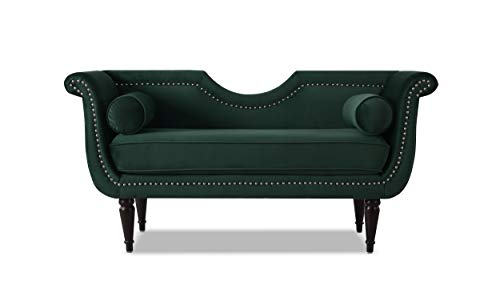 Jennifer Taylor Home 85470-892 Havilland Upholstered Loveseat, Hunter Green ()