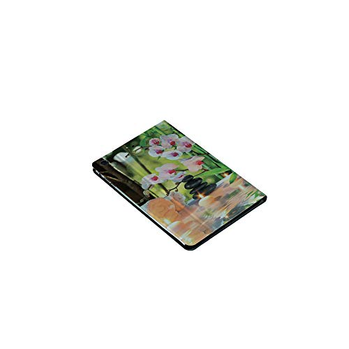 3D Printed iPad Mini1/2/3Case,Spa with Candles Orchids Stones in Garden, [Auto Wake/Sleep Function] Magnetic Closure Flip Anti-Scratch Shell Compatible with Apple iPad Mini123(7.9 inch)