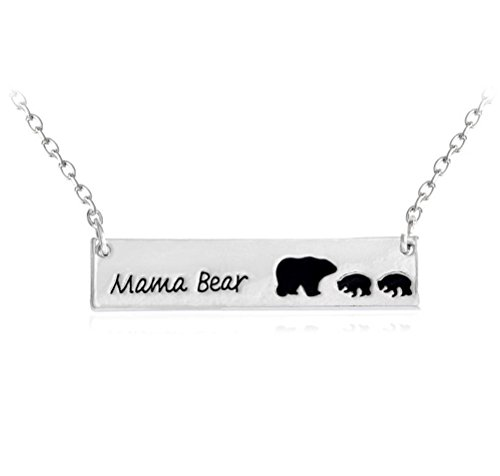 Price comparison product image Charm.L Grace Fashion Lovely MaMa Bear Necklace Silvery Mother's Day Gift