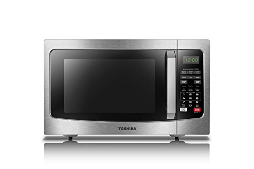 Toshiba  EM131A5C-SS Microwave Oven with Smart Sensor, Easy Clean Interior, ECO Mode and Sound On/Off, 1.2 Cu.ft, 1100W, Stainless - Cooking Appliances General