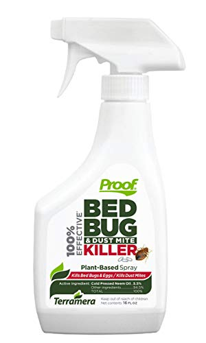 Proof Bed Bug & Dust Mite Killer for Home – 100% Effective, Plant-Based Bug Spray, Fast Acting with Extended Protection for up to 2 Weeks - Kills Pesticide Resistant Bed Bugs, dust Mites