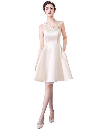 Kurz Erosebridal Abendkleid Trägerlos Ballkleid Champagner Harness Kleid Brautjungfer rrT5qxw7f