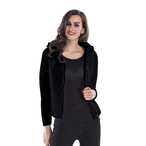 Invierno Estilo Capucha Especial Termica Schwarz Espesar Acolchada Elegante Abrigos Fit con Otoño Slim Chaqueta Chaqueta Mujer XqHgw