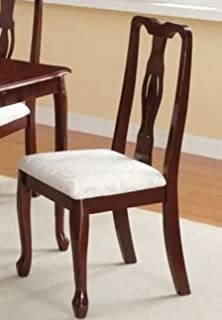 Dining Chair In Cherry Brown By Poundex (Set Of 2)