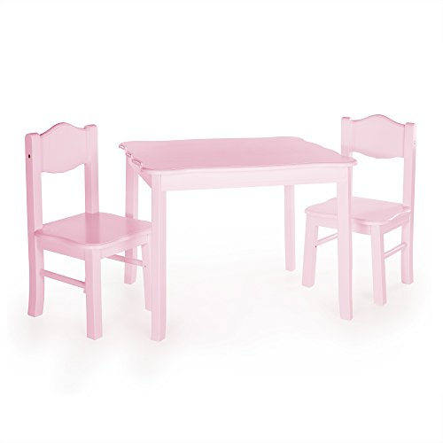 Guidecraft Classic Table & Chair Set Pink - Kids (Classic Chair Set)