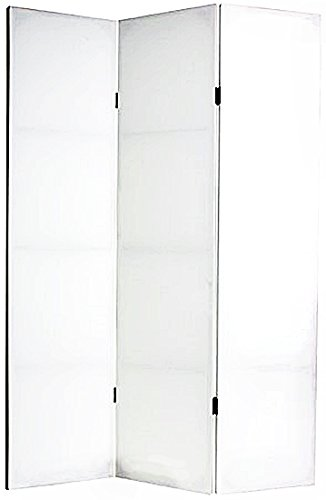 Bellaa Arts and Crafts Painter's Canvas, 6-Feet Do It Yourself DIY Plain White Crafter's Foldable Room Divider, 3 Panel